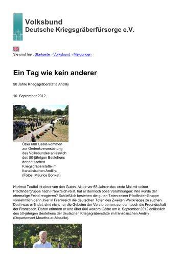 Volksbund Ein Tag wie kein anderer - Volksbund Deutsche ...