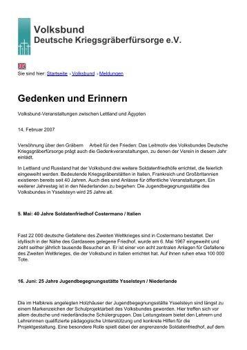 Volksbund Gedenken und Erinnern - Volksbund Deutsche ...