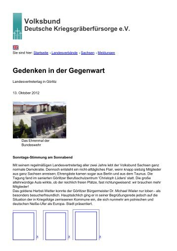 Volksbund Gedenken in der Gegenwart - Volksbund Deutsche ...