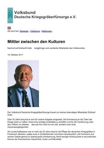 Volksbund Mittler zwischen den Kulturen - Volksbund Deutsche ...