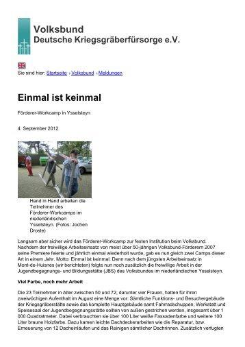 Volksbund Einmal ist keinmal - Volksbund Deutsche ...