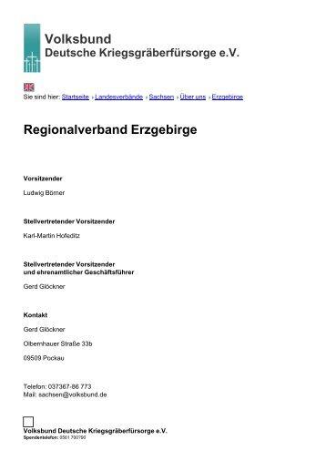 Volksbund Regionalverband Erzgebirge - Volksbund Deutsche ...