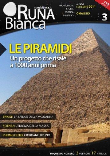 Un progetto che risale a 1000 anni prima - Runabianca.it