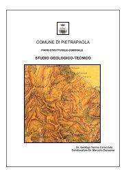 1) Studio Geologico - Tecnico - Comune di Pietrapaola
