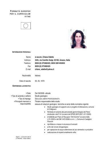 Nome DI MAURO,Chiara Odette Indirizzo 34/A, via ... - geoclarelli