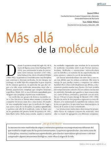 de la molécula - Ciencia Hoy