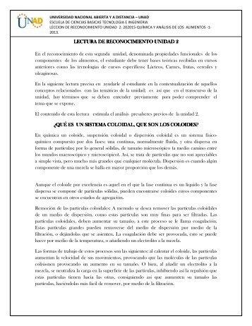 LECTURA DE RECONOCIMIENTO UNIDAD 2 LECTURA ... - 1 - Unad