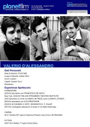 VALERIO D'ALESSANDRO Dati Personali - planet film