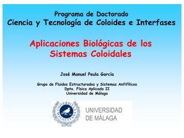 Aplicaciones Biológicas de los Sistemas Coloidales - física aplicada ii