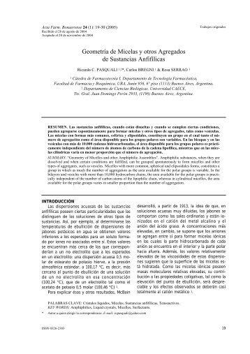 Geometría de Micelas y otros Agregados de Sustancias Anfifílicas