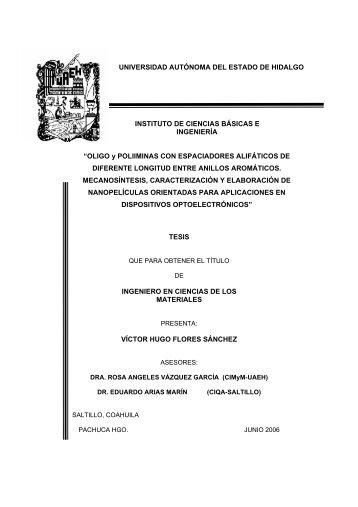Oligo y poliiminas con espaciadores alifaticos.pdf - UAEH