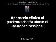Approccio clinico al paziente che fa abuso di sostanze tossiche