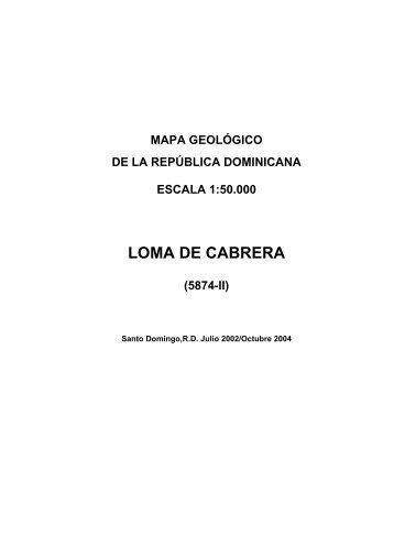 LOMA DE CABRERA - mapas del IGME - Instituto Geológico y ...