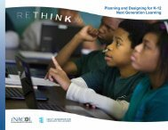 Planning and Designing for K-12 Next Generation Learning
