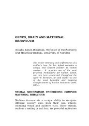GENES, BRAIN AND MATERNAL BEHAVIOUR - Arvo Net