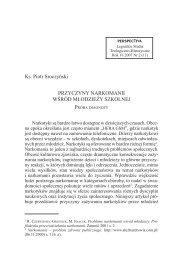 Ks. Piotr Sroczyński PRZYCZYNY NARKOMANII ... - Perspectiva.pl