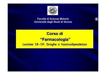 Farmacologia - Università degli Studi di Verona