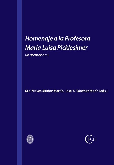 Homenaje A La Profesora María Luisa Picklesimer