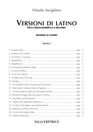 Versioni di latino - Taliaeditrice.It