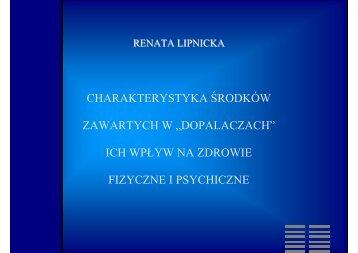 CHARAKTERYSTYKA ŚRODKÓW ZAWARTYCH W ...