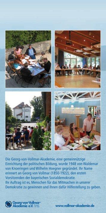 Die Georg-von-Vollmar-Akademie, eine gemeinnützige Einrichtung ...