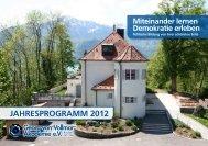 JAHRESPROGRAMM 2012 - Georg-von-Vollmar-Akademie eV