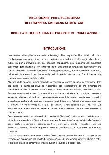Distillati, liquori, birra e prodotti di torrefazione - Regione Piemonte