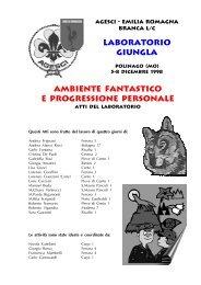 Atti del Laboratorio regionale Giungla - Agesci Emilia Romagna