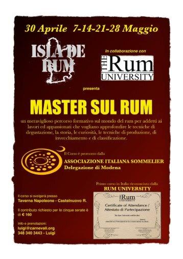la locandina del master e il programma completo - Associazione ...