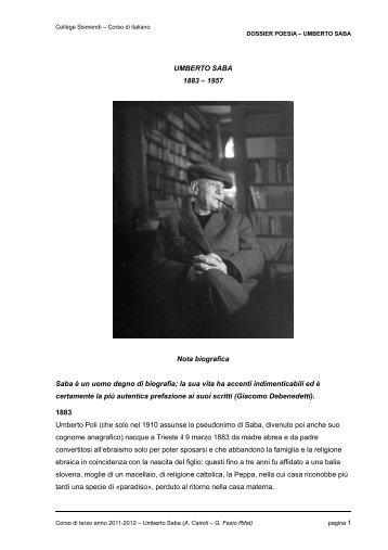 Dossier Saba 2012 - SìS, sito web del gruppo di italiano del Liceo ...