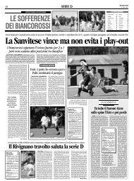28/04/2008 Campionato 33a Giornata: Girone C - serie d news