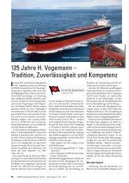 125 Jahre H. Vogemann – Tradition, Zuverlässigkeit und Kompetenz