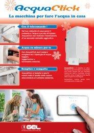 AcquaClick | Gel Spa acqua filtrata in casa