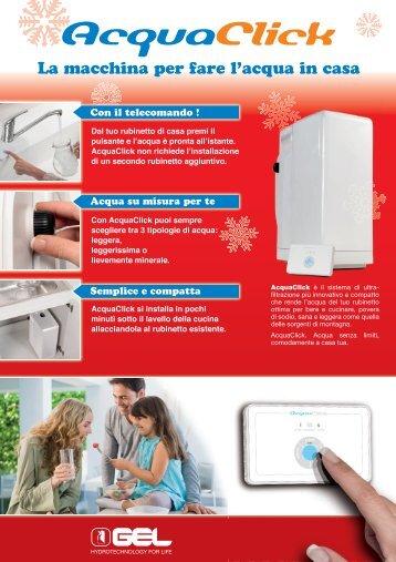 AcquaClick   Gel Spa acqua filtrata in casa