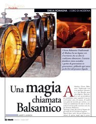 Una magia chiamata Balsamico - L'Informatore Agrario