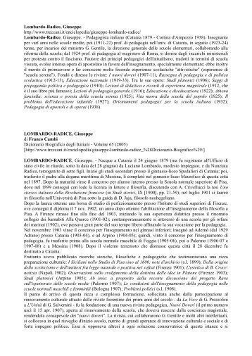 Lombardo-Radice, Giuseppe http://www.treccani.it ... - pagina di avviso