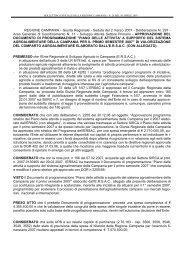 Piano delle attività a supporto del sistema agroalimentare della ...