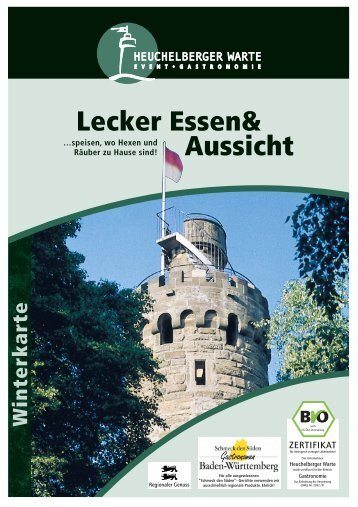 Speisekarte - Heuchelberg