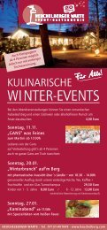 Kulinarische Winter-Events - Heuchelberg