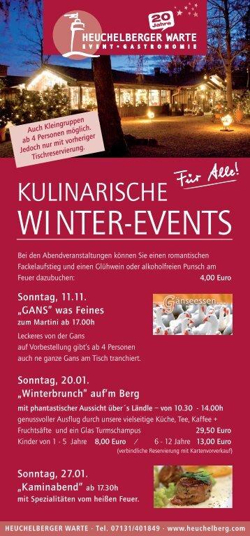 Kulinarische Winter-Events - Heuchelberg