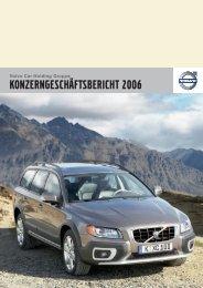 KONZERNGESCHÄFTSBERICHT 2006 - Volvo Auto Bank