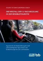 der wegfall der 12-tage-regelung in der reisebustouristik - Volz