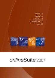 onlineSuite 1.0 - Volz Gruppe AG