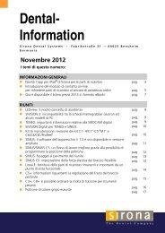 Novembre 2012 - Sirona Support