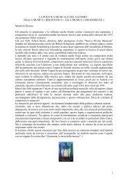 la politica musicale del nazismo : dalla musica ... - Rimini Memoria