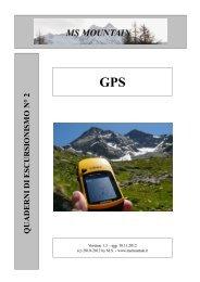 Quaderni di escursionismo n° 2 - GPS - MS Mountain