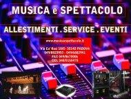 nuova scheda 2013 - Musica e Spettacolo