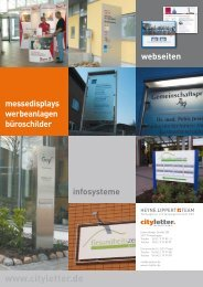 pylone außenwerbung büroschilder www ... - Heyne, Lippert + Team