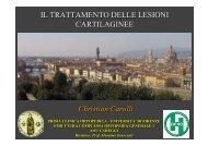 Il trattamento delle lesioni cartilaginee - Istituto di Medicina dello ...