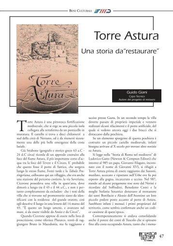 """Torre Astura - Una storia da """"restaurare"""" - Ministero della Difesa"""